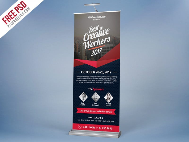 multi purpose event roll up banner