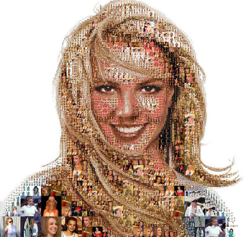 mosaic art of britney spears3