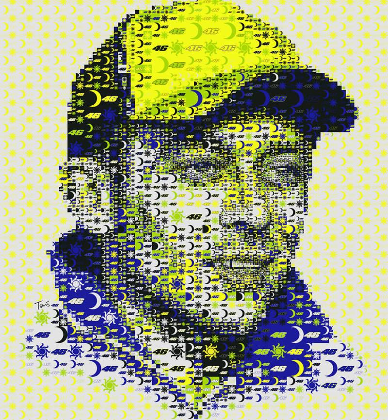 Mosaic Art Valentino Rossi