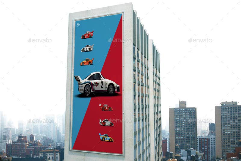 Outdoor Building Billboard Mockup