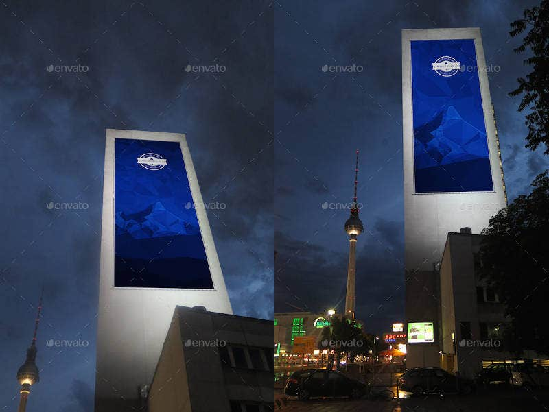 Giant Advertising Billboard Mockup