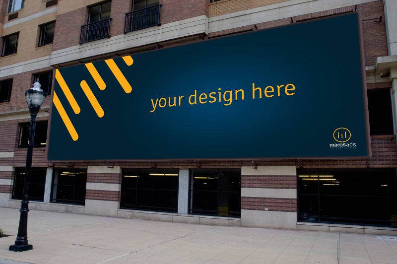 Free PSD Download Billboard Mockup