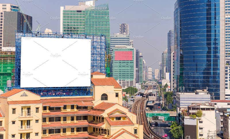 Commercial Building Billboard Mockup