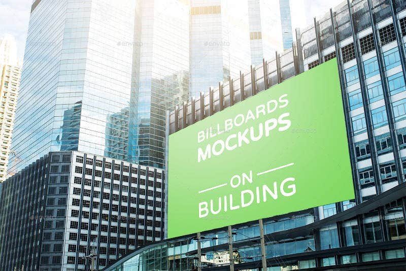 Business Billboards Mockups on Building