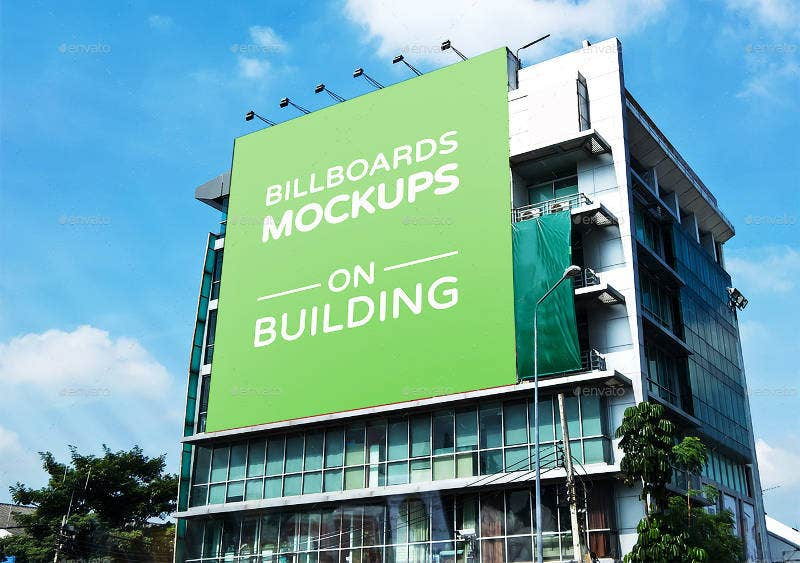 Billboards Mockup on Building