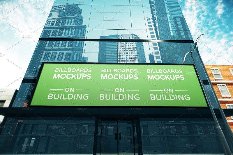 15 Banner Billboard Mockup on Building