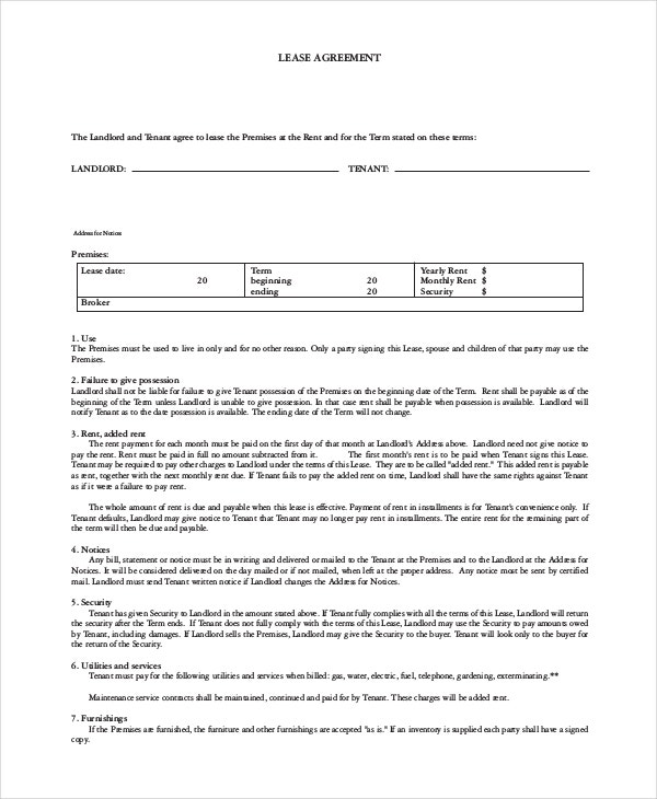 House Lease Agreement - 7+ Free Download Documents In Pdf, Word