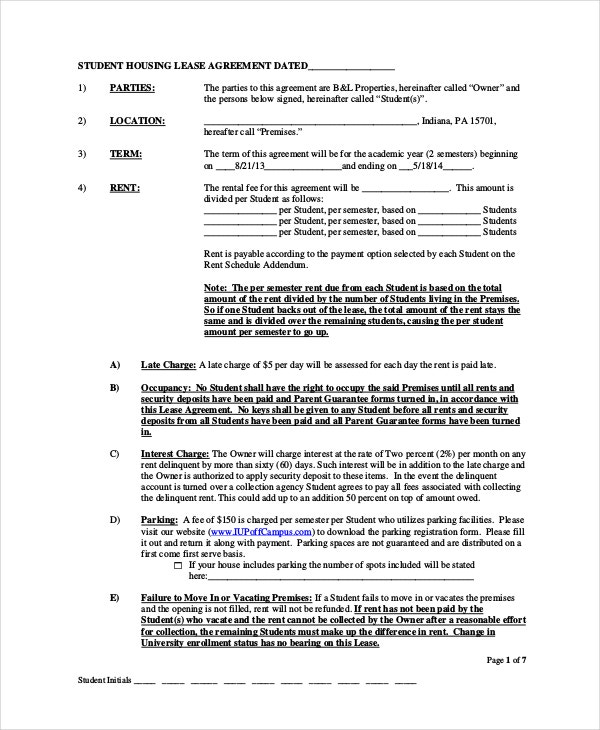 House Lease Agreement   Free Download Documents In Pdf Word
