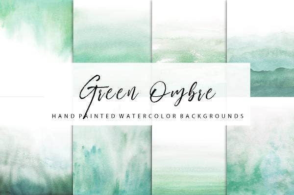 Green Ombre Watercolor Paper Texture