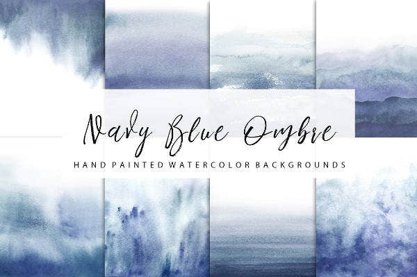 Navy Blue Ombre Watercolor Paper Texture
