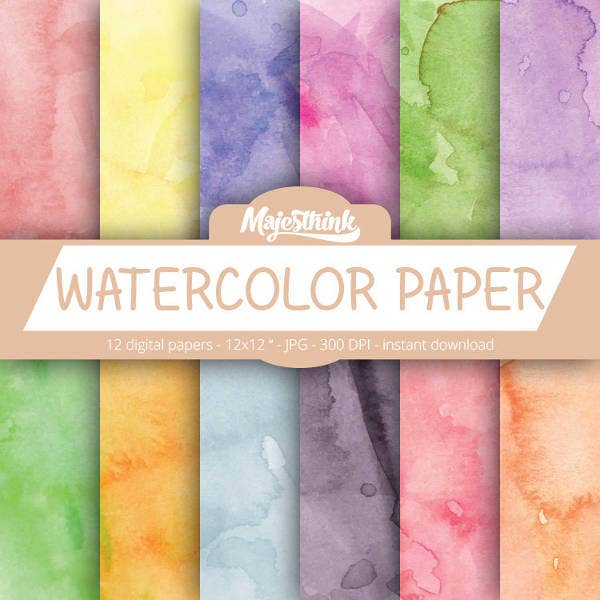 Watercolor Digital Paper Texture