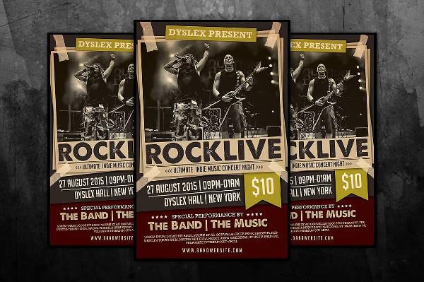 Rocklive Music Concert Poster