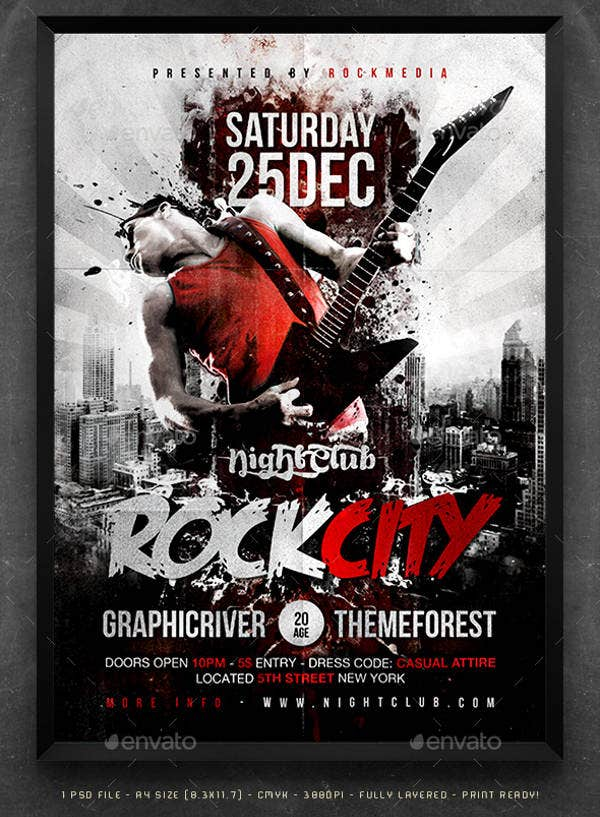 rock city concert poster