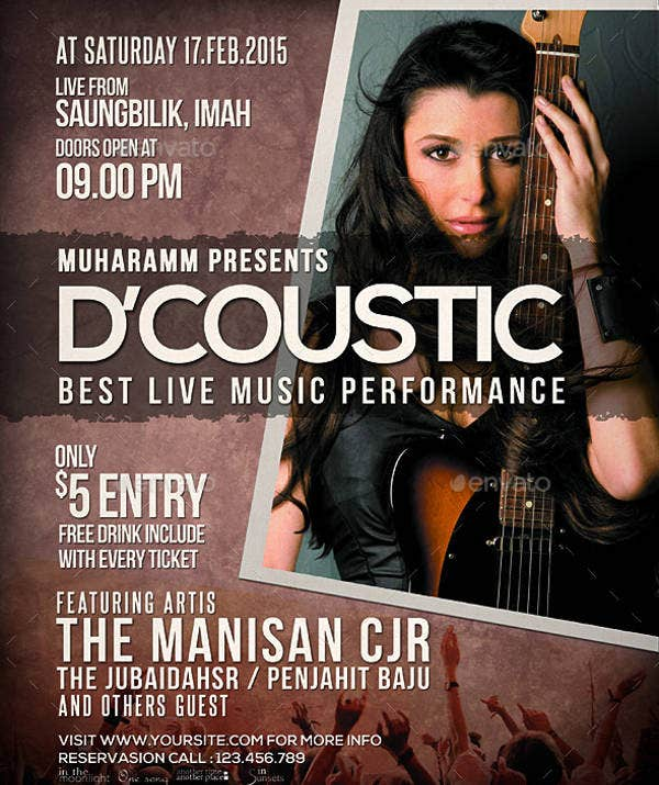 acoustic concert poster