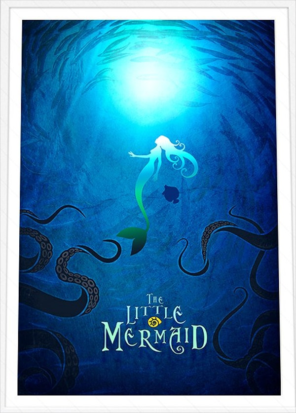 little mermaid disney poster