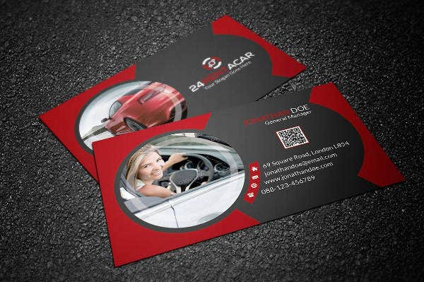 26 beautiful luxury business card free premium templates rent a car business card reheart Images