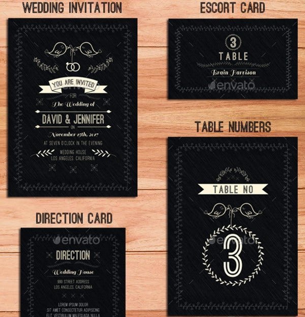 Professional Wedding Menu Card