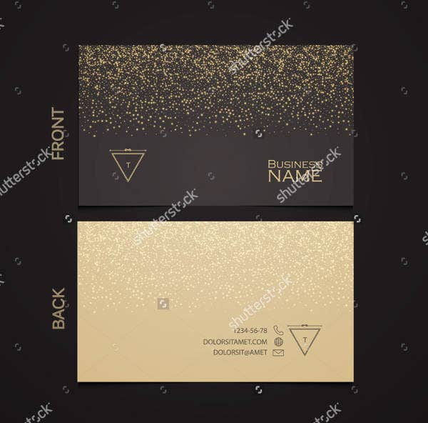 Luxury Business Card with Gold Dust