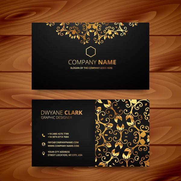 Gold Design Business Card