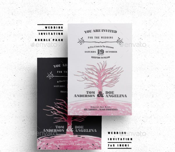 Elegant Wedding Menu Card