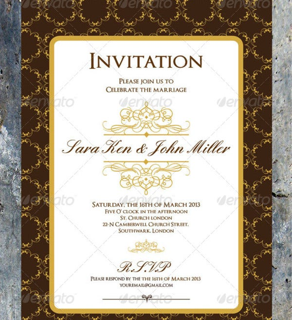 Luxury Wedding Menu Card Design