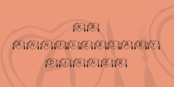 wedding anniversary font