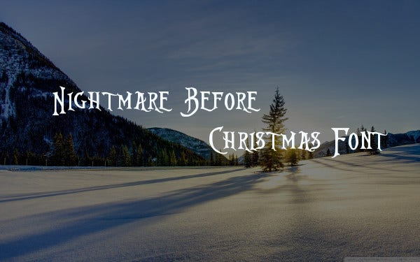 nightmare before christmas font