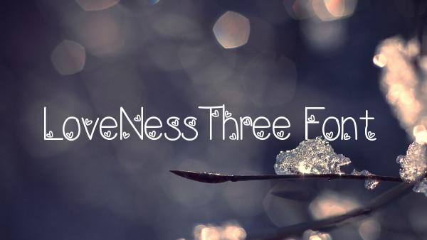 lovenessthree font