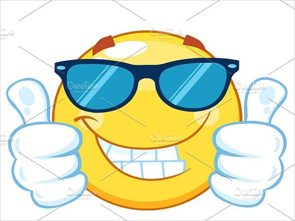 yellow emoticon giving two thumbs up