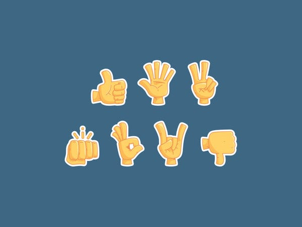 thumbs up emoji hands
