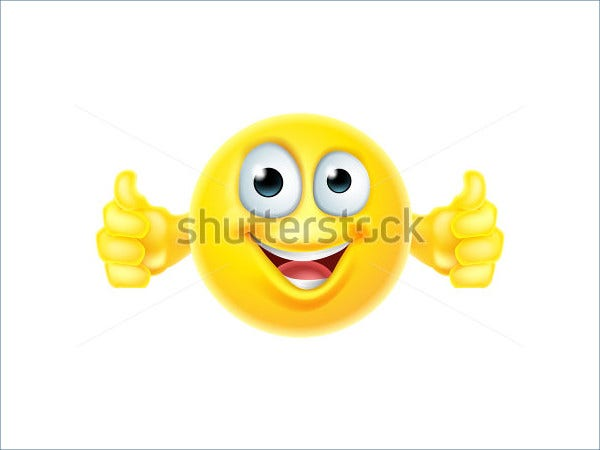 cartoon thumbs up emoji