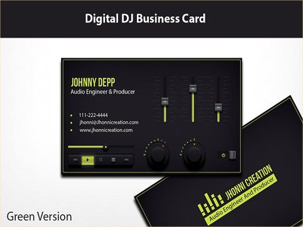 19 dj business cards free psd ai vector eps format download