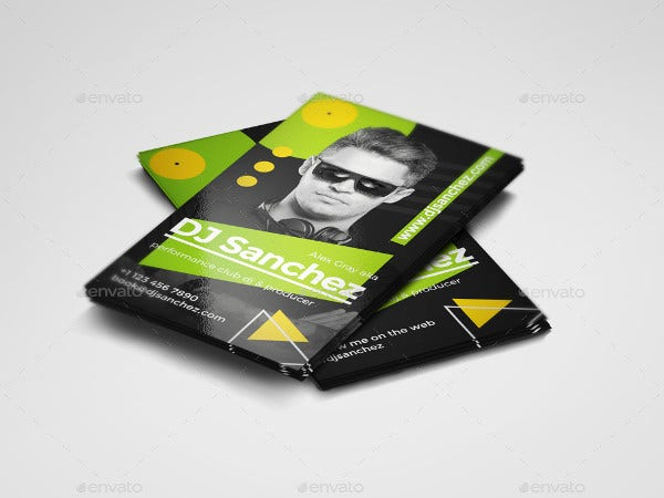 19 dj business cards free psd ai vector eps format download prodj dj business card psd template flashek Image collections