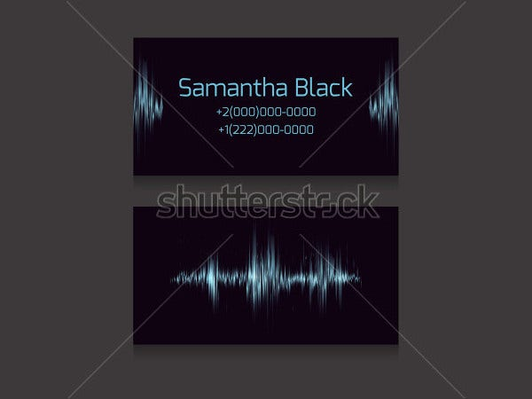 Wave Design DJ Business Card