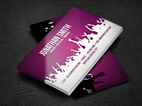 nightclub-business-card