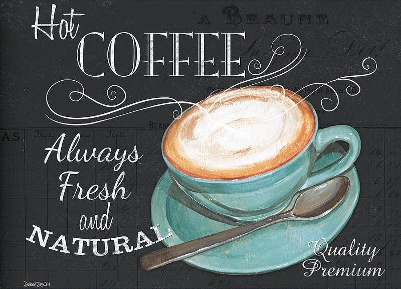 Retro Coffee Chalk Typography