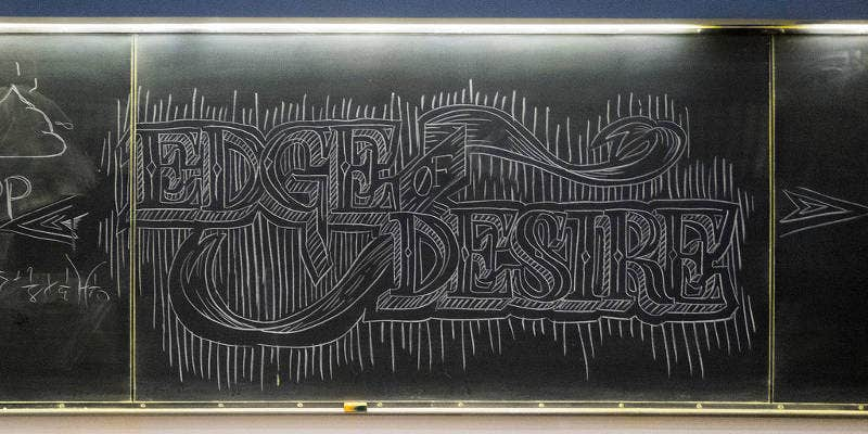 Graphic Chalk Typography Artwork