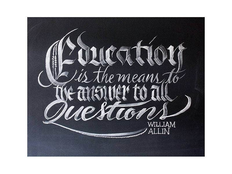 Conceptual Chalk Typography Artwork