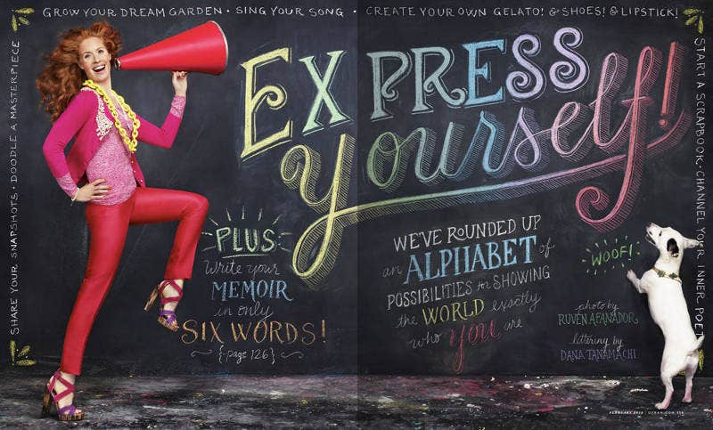 Chalk Typography Artwork with Artist