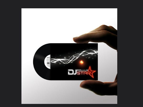dj pollux star business card