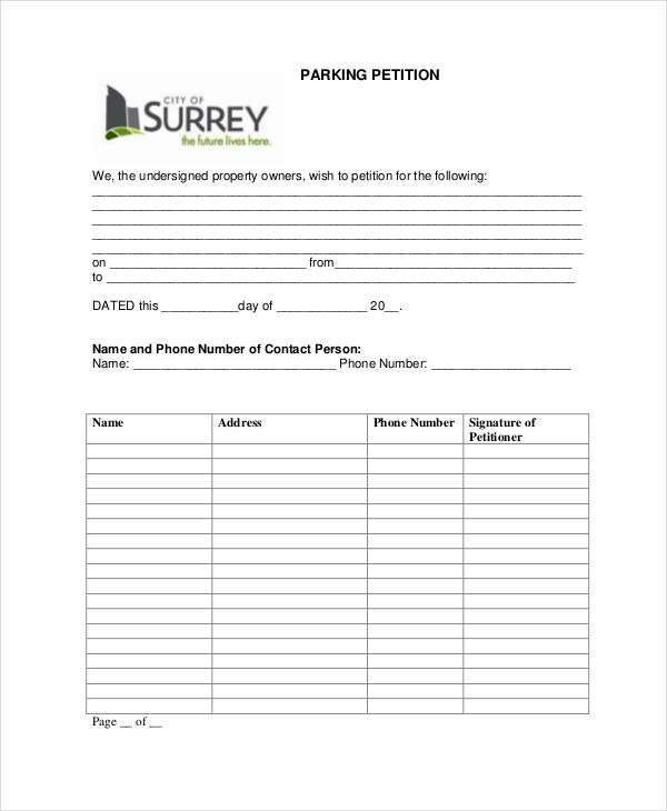 Petition Template - 11+ Free Word, Pdf Documents Download | Free
