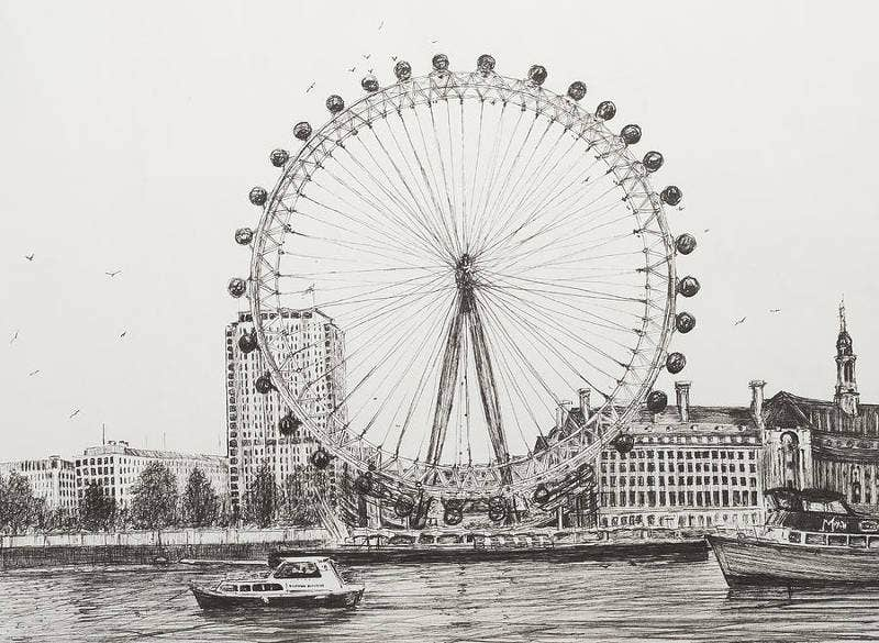 Pen Drawing by Vincent Alexander Booth