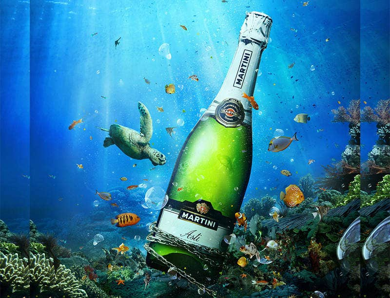 Underwater Creative Advertising Banner