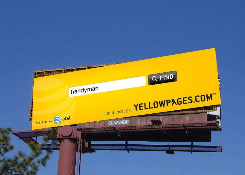 Creative Advertising Banner of Yellow Pages