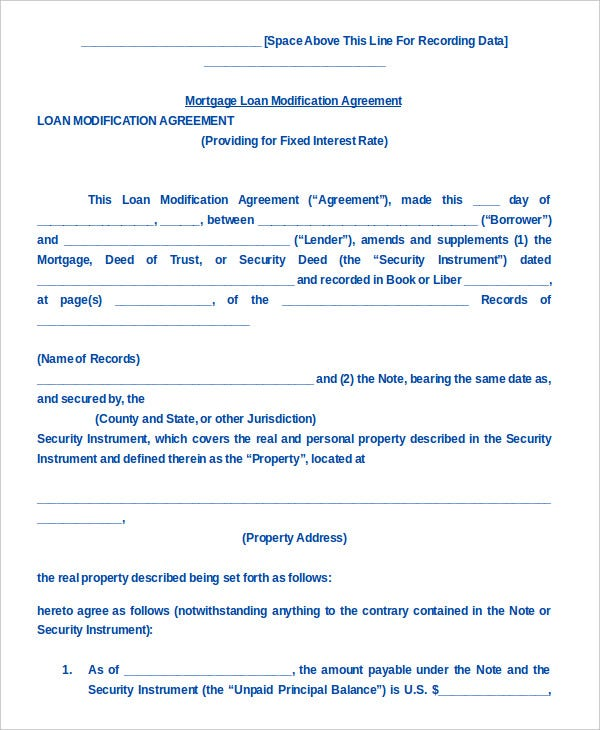 Loan Agreement Template   Free Sample Example Format  Free