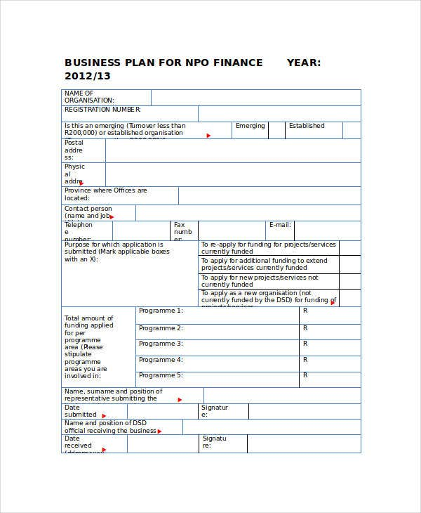 Business Plan for NPO Finance