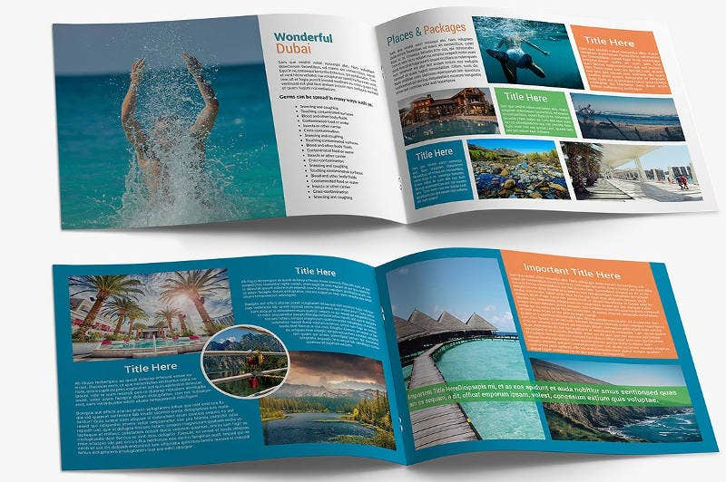 travel agency catalog brochure