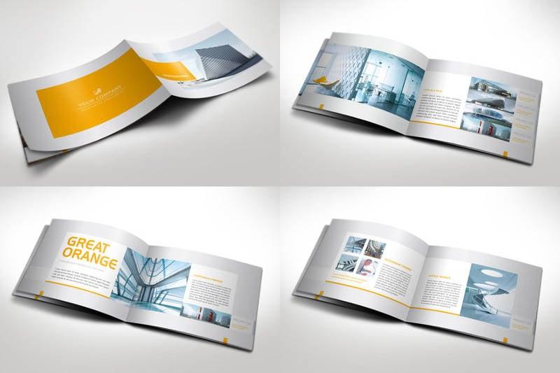 25 luxury brochure design free premium templates for Horizontal brochure design