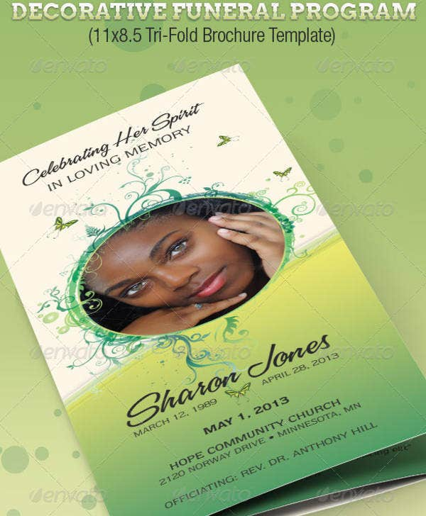 Funeral Program Template 23 Free Word PDF PSD Format Download