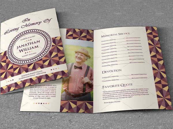 Funeral Program Template   Free Word Pdf Psd Format Download